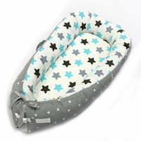 tampon çocuklar toptan satış-Taşınabilir Beşik Biyonik Karyolası Seyahat Çocuklar Için Çocuk Bebek Yuva Yatağı Çocuk Pamuk Yenidoğan Için Bebek Beşiği Katlanabilir tampon