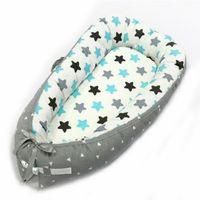 baby cradle großhandel-tragbares Krippe-bionisches Feld-Reise-Bett für Kind-Säuglings-Nest-Bett-Kind-Baumwollwiege für neugeborene Korbwiege faltbare Stoßstange