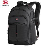 ordinateur jacquard achat en gros de-BALANG Laptop Backpack Hommes Femmes Bolsa Mochila pour 14-17 pouces ordinateur portable sac à dos sac d'école sac à dos pour les adolescents