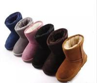 venda de botas para crianças venda por atacado-Venda quente New Real Australia 528 de alta qualidade Kid meninos meninas crianças bebê botas de neve quente estudantes adolescentes neve botas de inverno frete grátis