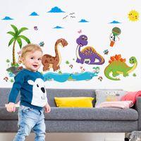 wallpaper hintergrund für kinder groihandel-Kinder Zimmer Hintergrund Wandaufkleber Dino Paradise Beta Kindergeburtstag Geschenk Tapete Wohnkultur Poster Dekoration Kunst 3 3zl Ww