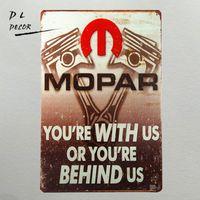 "Wholesale Metal Mechanics - Tin Metal Signs ""Mopar You're With Us Or Your Behind Us"" Parts Mechanic Garage Car Decor Man Cave"