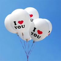 boda inflable flotante al por mayor-I LOVE U Pearl Iatex Balloon 100pcs / set 12inch Float Air Balls Inflatable Wedding Birthday Christmas Party Decoration Toys