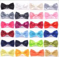 Wholesale solid kid bowties resale online - bow tie Men Wedding Party black red purple bowties Women Neckwear Children Kids Boy Bow Ties mens womens fashion accessories TO433