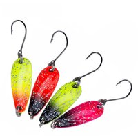 Wholesale big spinner lures for sale - Group buy 4PCS g fishing metal spoon baits metal spinner lure trout spoon mini bait wobbler artificial spoon Y1890402