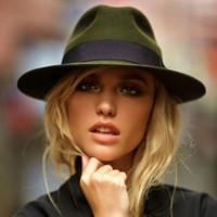 chapéus de feltro para senhoras venda por atacado-100% De Lã Larga Floppy Felt Trilby Bowknot Chapéu Fedora Para Elegante Womem Inverno Senhoras Auturmn Cashmere Gangster Igreja Chapéu 5 S18101708