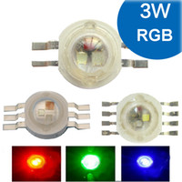 mavi iğne ışıkları toptan satış-1 2 5 10 adet 3 W RGB RGBW Kırmızı Yeşil Mavi Beyaz 4 6 8 pin LED Diyotlu Blub Çip Işık Lamba Parçası + 20mm Yıldız Için Foodlight Spot