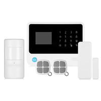 teclado ao ar livre venda por atacado-GS - G90B mais a G / M WiFi / GPRS / SMS de G / M de 2,5 polegadas segurança Home do sistema de alarme do teclado do diodo emissor de luz da polegada