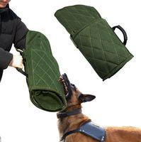 bras de morceau achat en gros de-Livraison Gratuite Chien Protection Bite Bras Manches pour la Formation Schutzhund Police K9 Rottweiler Allemand Berger Fit Gauche Droite Mains