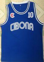 Wholesale Bc Black - Cheap Mens BC Cibona #10 Drazen Petrovic Jersey Wholesale Blue Drazen Petrovic Throwback College Basketball Jerseys