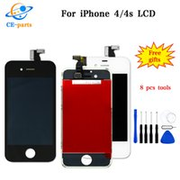 Wholesale iphone 4s lcd screens - High quality LCD Display for iphone 4 4s Touch Digitizer Complete Screen with Frame Assembly Replacement for iPhone 4 4s With DHL Shipping