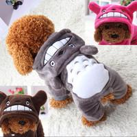 sudaderas con capucha del animal al por mayor-2018 Nueva Pet Dog Cat Puppy Sweater Hoodie Coat Para Pequeño Perro Mascota Cálido Traje de Vestir 4 colores
