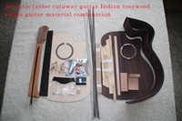 гитарный комплект diy оптовых-41-дюймовый Taylor Cutaway G-Type Акустическая гитара DIY Kit Африканское красное дерево Okoume Neck Rosewood Back Side Ebony Fretboard Spruce Top