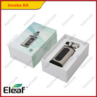 kit eleaf tc al por mayor-100% original de Eleaf Invoke Kit VW TC 220W 18650 Caja de batería Mod 2 / 4ml Parte superior Tanques de atomización ELLO T