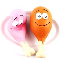 hühnerriemen groihandel-Simulation Chicken Legs Squishy Toys Langsam steigende Jumbo Squeeze Phone Charms Straps Stress Reliever Kinderspielzeug