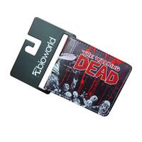 bolso de línea al por mayor-Marca de Diseñador de lujo Carteras Mens Walking Dead Line Monedero Estudiante Personalidad Monedero Cuadrado Creative Card Holder 14ym jj
