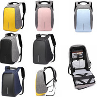 Wholesale computer chargers - USB Oxford Backpack Student Double Shoulder Bag Computer Bag With USB Charger Laptop Travel Guard against theft Backpack GGA580 5pcs
