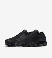 Wholesale Womens Slip Sneakers - [With Box]2018 Wholesale Vapormax Moc Mens Womens Multicolor Triple Black Running Shoes Racer Vapor Sports Runner Breathable Sneakers 36-45