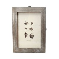 Wholesale Wholesale Wooden Picture Frames - Vintage Photo Frame Wooden Wedding Pictures Frames (Wood Color)