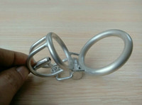 Short Chastity Lock Chastity Cage Bondage Male Chastity Device Gear Cock Cage Stainless Steel Penis Cage For Man Permanent Cbt Dick Rings