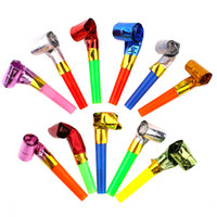 doğum günü oyuncakları üfleme toptan satış-Çocuk Komik Islık Renkli Çocuklar Doğum Günü Partisi Gürültü Maker Cheer Sahne Yaratıcı Üfleme Ejderha Blowout Oyuncaklar Hediyeler 0 06oy YY