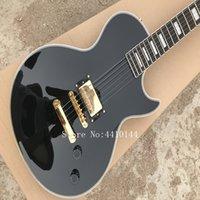 klassische gitarren geben verschiffen frei groihandel-Großhandel kundenspezifische klassische schwarze Farbe Gitarre elektrisch mit Ebenholz Griffbrett, Made in China, freies Verschiffen