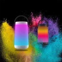 Wholesale colour portable speakers resale online - Dazzle Color Night Light Portable Wireless Bluetooth Speakers Colour Change Intelligent Surround Sound With Mic For Mobile Phone Packing