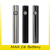 Wholesale Usb Charging Voltage - Max C8 Preheat Battery 650mAh Variable Voltage Vape VV Batteries With 510 Thread Bottom USB Charging Cable