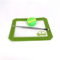 квадратный силиконовый коврик для выпечки оптовых-Силиконовые восковые подушки квадратные сухие травяные маты 12,7 * 10,3 см или 6,5 см * 6 выпечки ковриков для ванных комнат с бумажной тарой