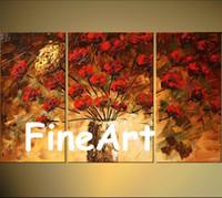 wohnzimmer gemälde zum verkauf großhandel-handgemalte Gruppenmalerei Textur Blumen Malerei Landschaft Baum Acryl Gemälde auf Leinwand Art Deco Gemälde Verkauf Schlafzimmer Wohnzimmer