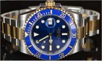 Wholesale watch diver men - Luxury WATCHES Box Black Ceramic Bezel Dial 116610 16610 Stainless Steel Bracelet Automatic Mens Men's Watch Watches Man Wristwatch