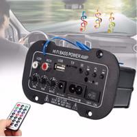 amplificateur mp3 usb achat en gros de-E6H Nouvelle Voiture Bluetooth HiFi Basse Puissance AMP Numérique Auto Amplificateur Stéréo USB TF Radio Audio MP3 avec Télécommande 220 V