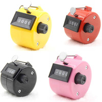 Wholesale easy swing for sale - Group buy Digital Chrome Hand Tally Clicker Counterfour Digit Number Clicker Golf Long Service Life Light Weight Easy To Carry df dd