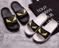 Wholesale booties shoes for men - 2017 Eye Monster Summer men's shoes flip flops for loose-fitting men beach slippers, rubber flip-flops outdoor massage men sandals 44D5