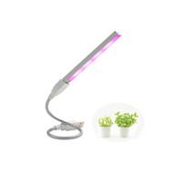 ingrosso luci girevoli gialle-Lampada a LED regolabile per la crescita delle piante 5V 3W Lampada a incandescenza per lo spettro completo Corpo argenteo per impianto di coltura idroponica Impianto a effetto serra
