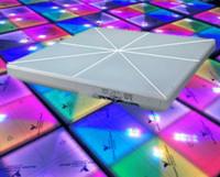 pistas de baile rgb led al por mayor-RGB LED Dance Floor 1MX1M LED de alto brillo DJ Disco Fiesta de bodas DMX Stage Light LLFA