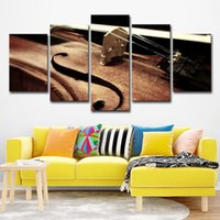 Wholesale musical paintings art online - Home Wall Art Decor Canvas HD Prints Posters Pieces Violin String Paintings Living Room Musical Instruments Pictures