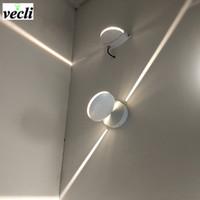 ingrosso telecamera-esterno impermeabile 8w ha condotto la lampada da parete, superficie ha condotto la luce della fodera della luce della parete del riparo della parete interna Illuminazione decorativa 85-265V della camera da letto