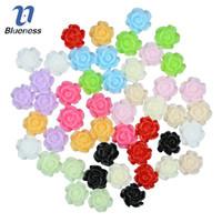 смоляные шипы оптовых-Blueness 50Pcs/Lot 12 Colors 3D Resin Rose Flowers Design Nail Art Decorations Studs Design DIY Manicure Gel Accessories JH030
