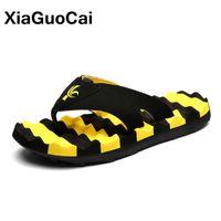 Wholesale hotels big white - XiaGuoCai Summer Fashion Men Massage Slippers Big Size Non-slip Flip Flops For Male 2017 Newest Beach Shoes X37 65
