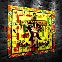 Wholesale monopoly art online - Alec Monopoly Home Decor HD Printed Modern Art Painting on Canvas Unframed Framed