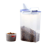 Wholesale moisture measuring - Pet Food Tank Cat Dog General Food Moisture-proof Sealing Bucket Portable 2kg Dog Food Bucket Measuring Cup
