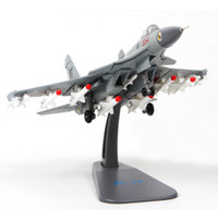 Wholesale fly display - 1 100 J-15 Flying Shark Fighter Plane Air Force Aircraft Diecast Display Airplane Model Collection For Birthday gift free Shipping