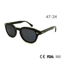 johnny depp óculos de sol de marca venda por atacado-Retro Vintage Sunglasses Moda Masculina Rodada Shapes Johnny Depp Rivet Óculos De Sol Para Homens Marca Designer Óculos UV400 Óculos de Proteção