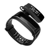 два наушника оптовых-Умный браслет и наушники Bluetooth с микрофоном Два в одном Talkband Y3 Фитнес-трекер Smartband Динамик Часы для Iphone Samsung Huawei Mi