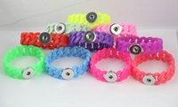 Wholesale personalized button bracelets for sale - Group buy 20cm Silicone Noosa Stretch Bracelets Fit mm Snap Buttons DIY Personalized Silver Noosa Snap Chunk Jewelry Valentine Gift