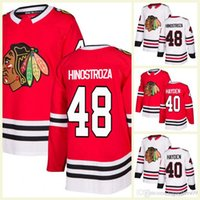 b931d95fab2 2018 Male Chicago Blackhawks 15 Artem Anisimov 40 John Hayden 48 Vinnie  Hinostroza 7 Brent Seabrook Hockey Jerseys Red White A C patch