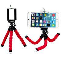 selfie monopod shutter toptan satış-Esnek Ahtapot Tripod Telefon Tutucu Evrensel Cep Telefonu Araba Kamera Için Braketi Standı Bluetooth Uzaktan Shutter ile Özçekim Monopod