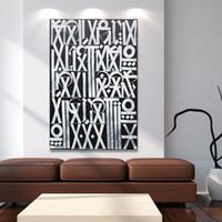 soyut panel tuvali baskılar toptan satış-1 Adet Modern Soyut Tuval Sanat Mektuplar Yeni Vizyon Oturma Odası Ev Dekorasyonu Için Duvar Resimleri Boyama Baskılı Yok Çerçeveli