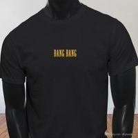 pistola de sexo masculino al por mayor-Bang Bang Sex Guns Pistola Kill Bill Movie Gore Camiseta negra para hombre Camiseta Hombre Mejor diseño personalizado de manga corta Tallas grandes para hombre Cami